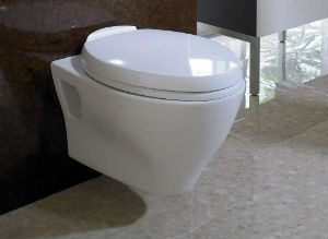 TOTO CT418F#01 Aquia Wall-Hung Dual-Flush Toilet Bowl