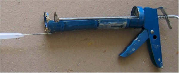 blue caulking gun